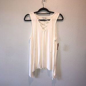 NWT American Eagle Lace Up Creme Soft & Sext Tank